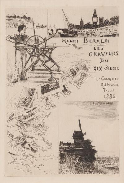 Auguste Delâtre, 'Frontispiece to Les Graveurs du XIX Siecle, By Henri Beraldi', 1886