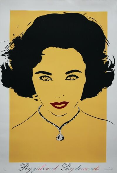 Bambi, 'Big Girls Need Big Diamonds (Liz Taylor - Yellow / Ochre)', 2012