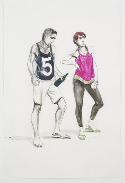 Charles Avery, 'Untitled (Two Bowlers)', 2018