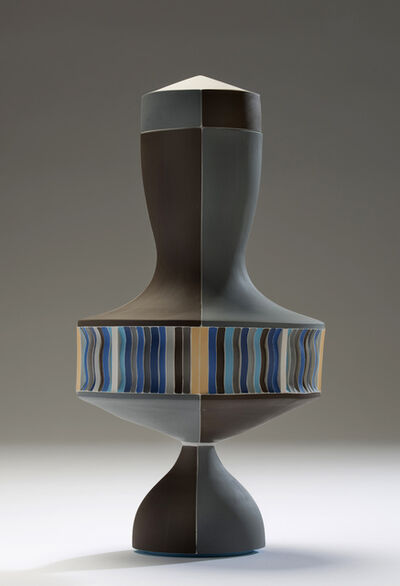 Peter Pincus, 'Brown and Blue Urn with White Seams', 2016