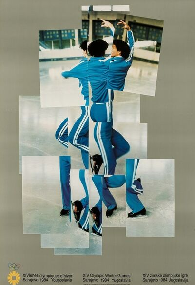 David Hockney, 'Skater (XIV Olympic Winter Games, Sarajevo) (Baggott 135)', 1982