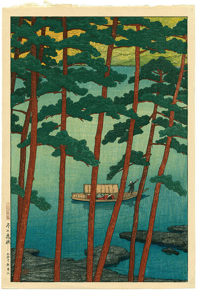 Kawase Hasui, 'Winter at Arashi', 1921