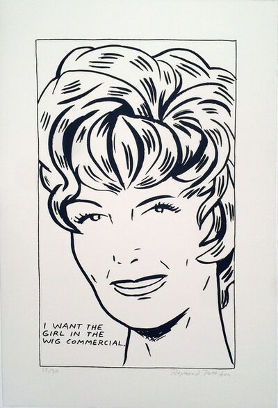 Raymond Pettibon, ' I want to be the girl in the Wig Commercial', 1989