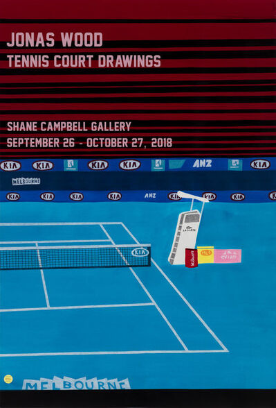 Jonas Wood, 'Tennis Court Drawing Shane Campbell Unsigned Poster', 2018