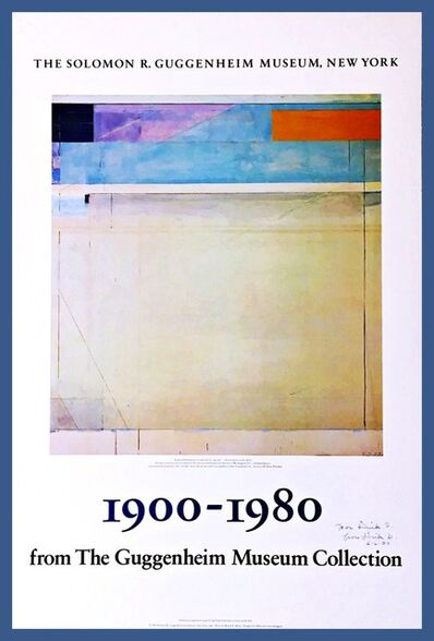 Richard Diebenkorn, '1900 - 1980 for the Guggenheim Museum Collection (Hand Signed)', 1980