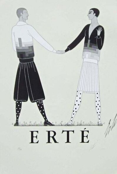 Erté (Romain de Tirtoff), 'Modern Sports Dress for Men', 1968