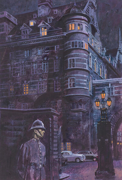 David Blossom, 'Two (2) Illustrations Great Cases of Scotland Yard', ca. 1978