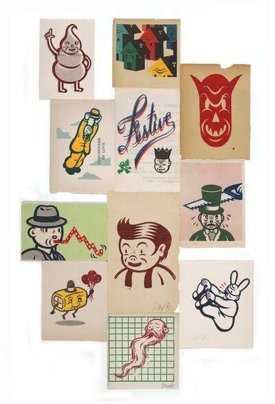 Gary Taxali, 'Serigraph Assemblage #5', 2012