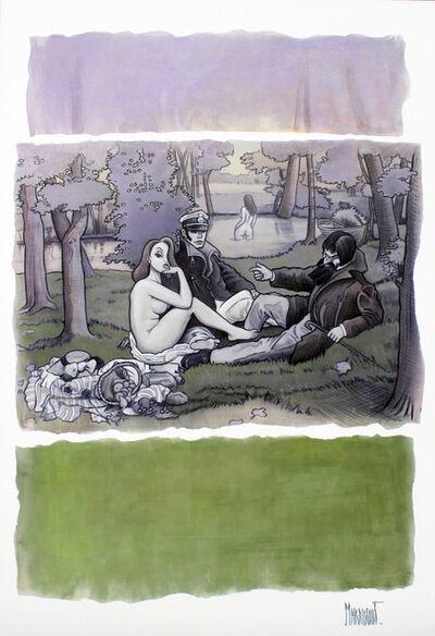 Xavier Marabout, 'Violet boisé et vert tendre', 2018
