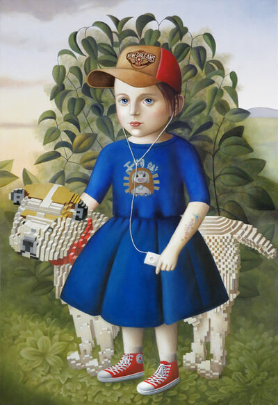 Amy Hill, 'Girl with Lego Dog'