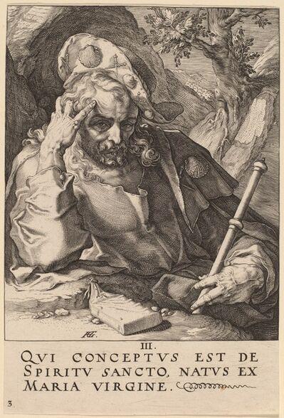 Hendrik Goltzius, 'Saint James Major', probably 1589