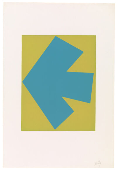 Ellsworth Kelly, 'Blue Over Green', 1964-65
