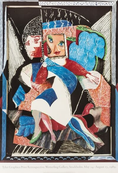 After David Hockney, 'A poster for Tyler Graphics Print Retrospective', 1989
