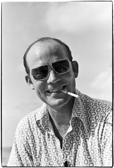 Al Satterwhite, 'Hunter S. Thompson in Cozumel', 1974