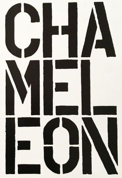 Christopher Wool, 'Chameleon (Page from Black Book)', 1989