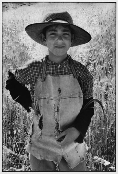 Leonard Freed, 'Young farmer with sickle Sicily Italy ', 1974