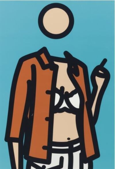 Julian Opie, 'Ruth with Cigarette 1', 2005