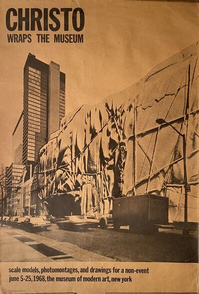 Christo, 'CHRISTO WRAPS THE MUSEUM, Scale Models, Photomontages, and Drawings for a non-event June 5-25, 1968, the museum of modern art, New York', 1968