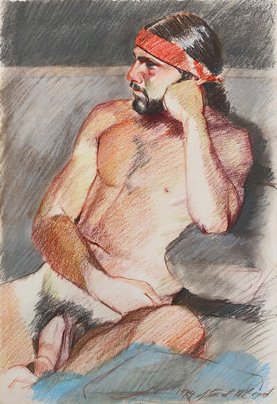 Mark Beard, 'Untitled (Nude Man in Red Headband)', 1974