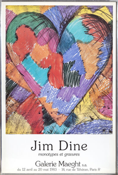 Jim Dine, 'Galerie Maeght, Hearts', 1983