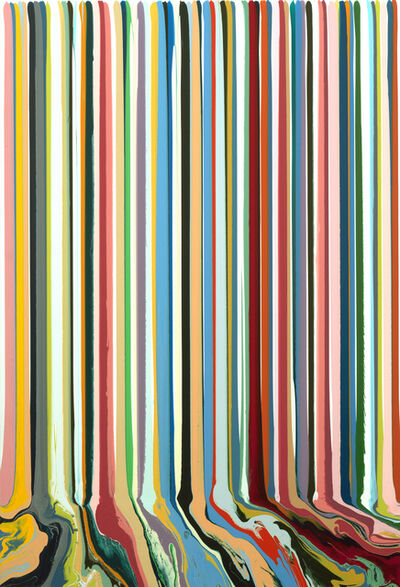 Ian Davenport, 'Pastel Rhythmatic', 2017