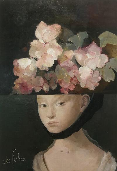 Françoise de Felice, 'Collage jeune fille Petrus Christus', 2019