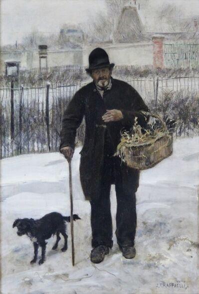 Jean François  Raffaëlli, 'Promeneur et son Chien', ca. 1881