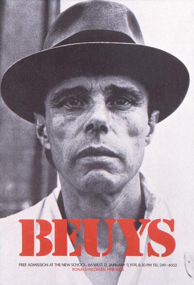 Joseph Beuys, 'Joseph Beuys at the New School Poster', 1974