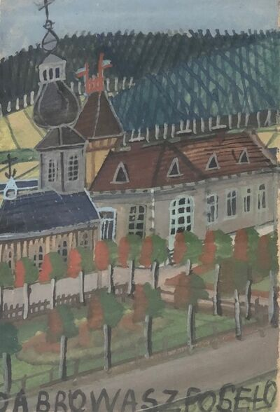 Nikifor Krynicki, 'Untitled (Aerial Street Scene) ', 1960-1965