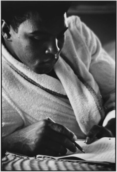 Gordon Parks, 'Muhammad Ali Writes a Letter, London, England', 1966