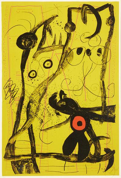 Joan Miró, 'Delire Du Couturier Jaune'