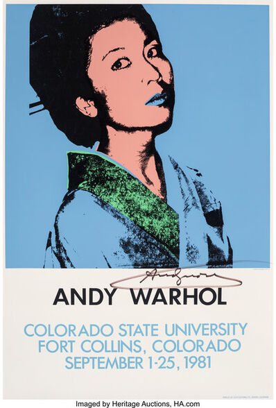 Andy Warhol, 'Andy Warhol, exhibition poster', 1981