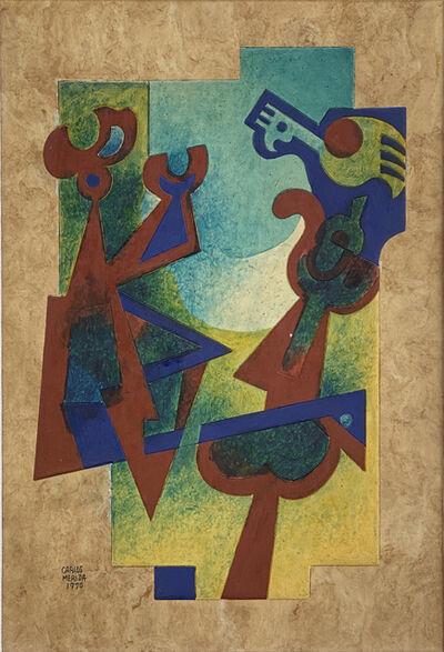 Carlos Merida, 'El Huacamayo y la Dama', 1976