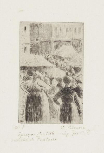 Camille Pissarro, 'Marché de Pontoise', 1888
