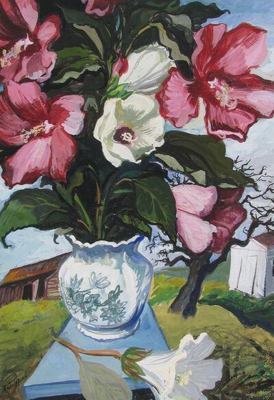 Gregorio Prestopino, 'Peonies in Rural Landscape', ca. 1945