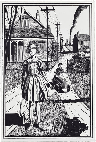 Grayson Perry, '01, Six Snapshots of Julie (Black and White)', 2015