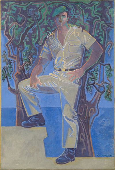 John Craxton, 'Soldier by the Sea', 1985
