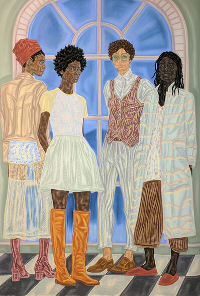 Toyin Ojih Odutola, 'Representatives of State', 2016-2017