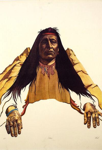 Robert Allrich, 'Defiance, American Indian, Cherokee, Navajo, Sioux, Apache, Blackfeet  Limited Edition Print', 1986