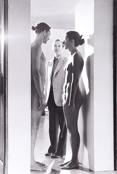 Mario Carbone, 'Imponderabilia, Performance Abramovic and Ulay with the critic Renato Barilli', 1977