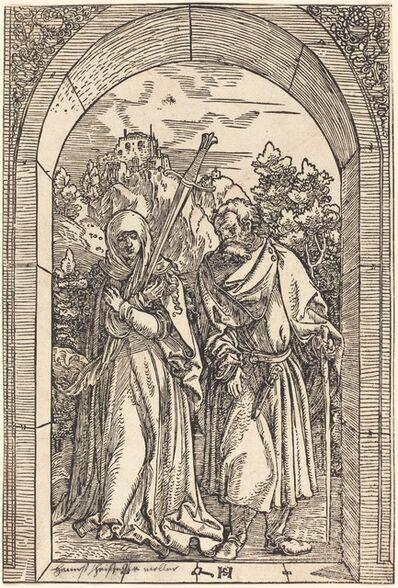 Hans Schäufelein the Elder, 'Mater Dolorosa and Saint Joseph'