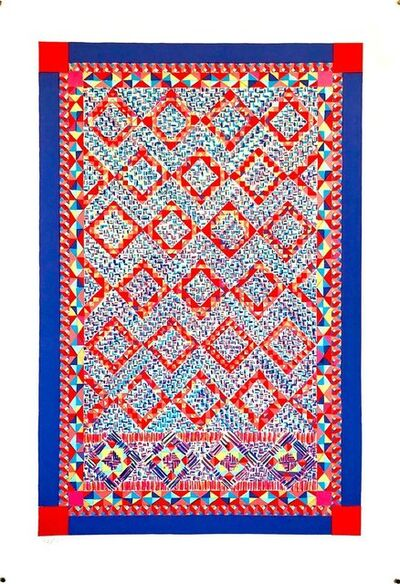 Dee Shapiro, 'Quilt or Persian Rug Serigraph Pattern and Decoration Feminist Lithograph Print', 1980-1989