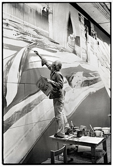 James Rosenquist, 'James Rosenquist working on Star Thief', 1980