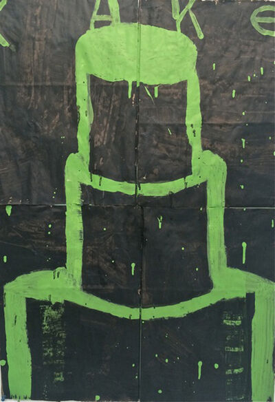 Gary Komarin, 'Cake (Green on Black)', 2015