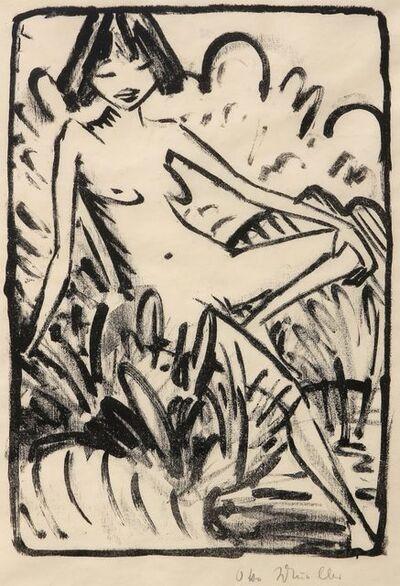 Otto Mueller, 'Am Ufer sitzendes Mädchen', 1922-1926