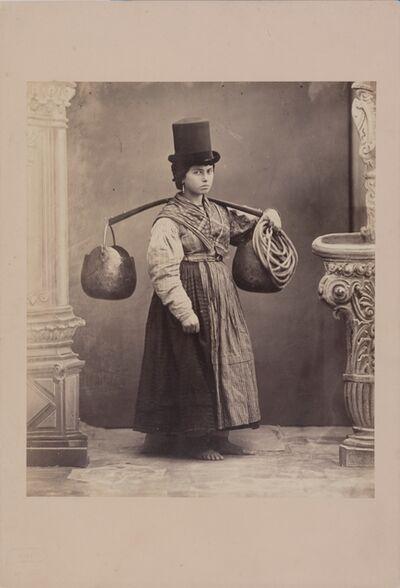 Carlo Ponti, 'Bigolante, Venezia', 1860-1869