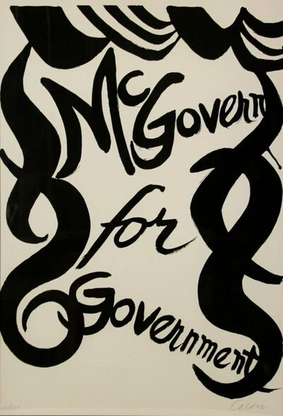 Alexander Calder, 'McGovern for McGovernment', 1972