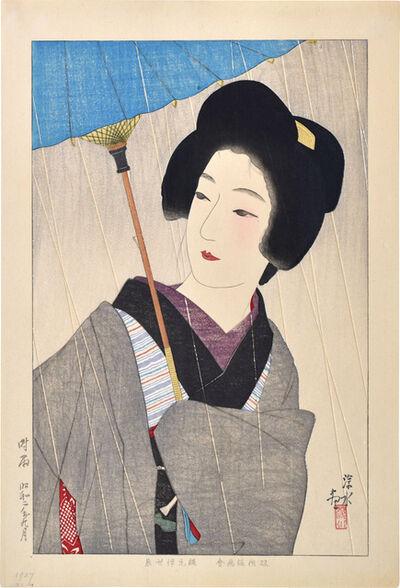 Itō Shinsui, 'Drizzling Rain', 1927