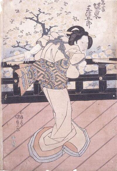 Utagawa Toyokuni III (Utagawa Kunisada), 'Bando Mitsugoro As Iwafuji', 1815-1842