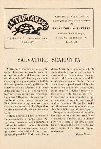 Salvatore Scarpitta, 'Bollettino'